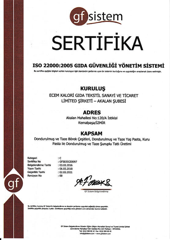 Ecem İso 22000 2005